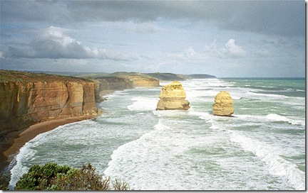 Les côtes de l'Australie près de Melbourne - Great Ocean Road - Twelve apostles. Photo Rita Willaert