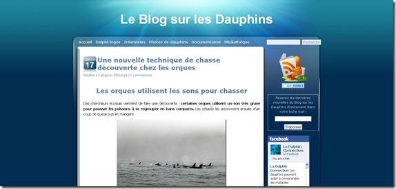 Ancien Theme Le Blog sur les dauphins