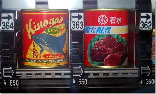 Boîte de conserve de viande de baleine dans un hôtel de Tokyo - Photo : SaveJapanDolphins.org