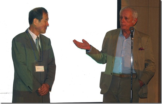 Ric 0'Barry et Kunio Suzuki le 1er septembre 2010 - Photo : Save Japan Dolphins