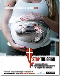 """L'affiche de la campagne """"Stop The Grind"""""""