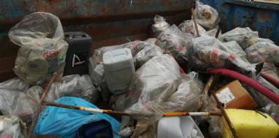 Une partie des déchets collectés